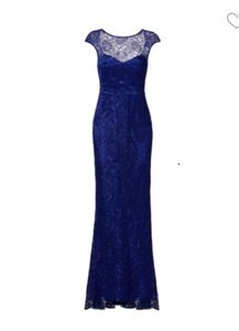 Theia Blue Shimmering Elemant Gown Formal Wedding Dress Size 6 (S)