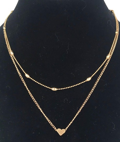 Preload https://img-static.tradesy.com/item/24812271/yellow-gold-tone-double-chain-love-heart-15-long-2-drop-necklace-0-1-540-540.jpg