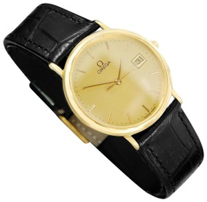 Omega 1989 Omega De Ville Mens Vintage Midsize Ultra Thin Cushion Watch - 18