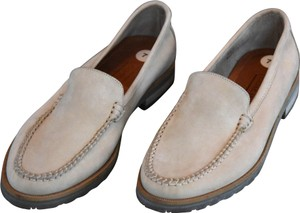 Coach Made In Italy Hand Stitched Upper Leather Lined Natural Flats