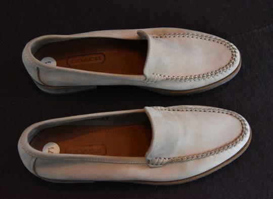 Coach Made In Italy Hand Stitched Upper Leather Lined Natural Flats Image 1