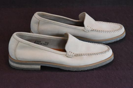 Coach Made In Italy Hand Stitched Upper Leather Lined Natural Flats Image 5