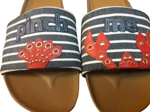 Cole Haan Lobster Fest Hamptons Summer Pinch Me Crab Red, White, Blue Sandals
