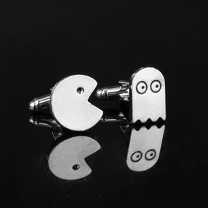 Other Pac-Man Silver Plated Cufflinks For Men's
