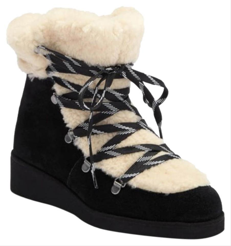 6a8c0a15147 Australia Luxe Collective Black Genuine Sheepskin Lined Lace-up  Boots Booties