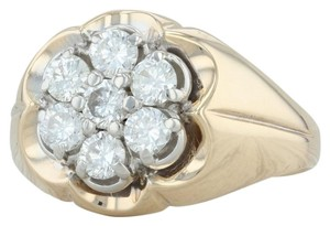 Other .90ctw Diamond Cluster Ring- 14k Size 10.5 Halo Flower