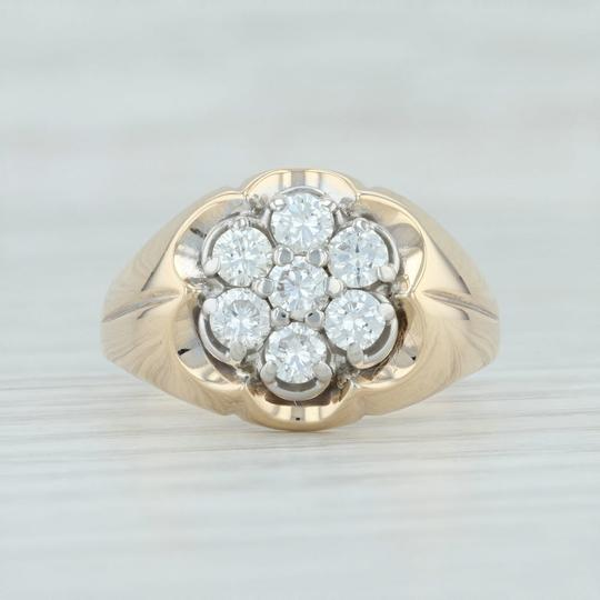 Other .90ctw Diamond Cluster Ring- 14k Size 10.5 Halo Flower Image 1
