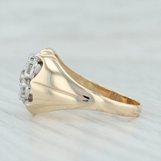Other .90ctw Diamond Cluster Ring- 14k Size 10.5 Halo Flower Image 2