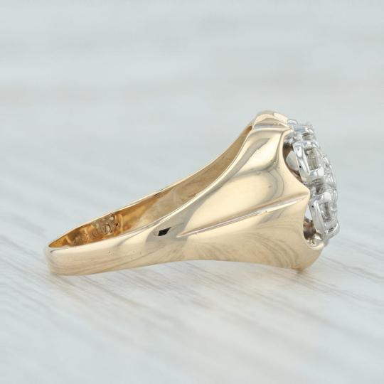 Other .90ctw Diamond Cluster Ring- 14k Size 10.5 Halo Flower Image 3