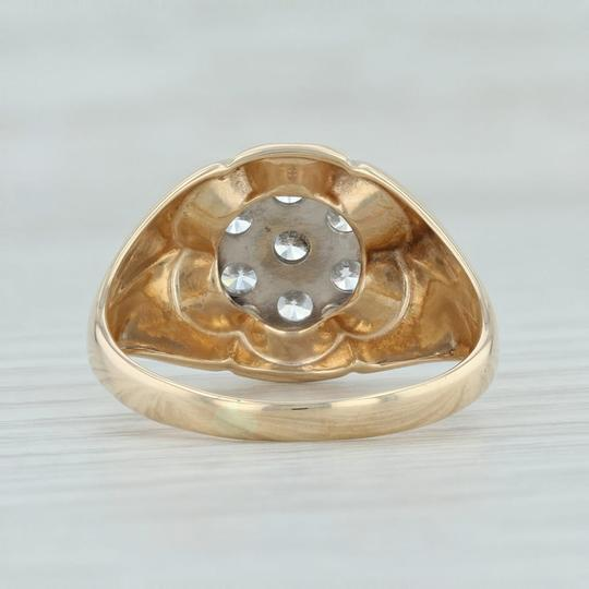 Other .90ctw Diamond Cluster Ring- 14k Size 10.5 Halo Flower Image 4
