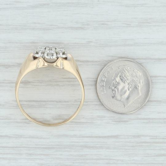 Other .90ctw Diamond Cluster Ring- 14k Size 10.5 Halo Flower Image 6