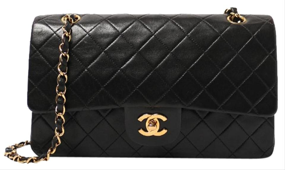 51b2faa42eddaa Chanel Classic Flap Vintage Quilted Black Lambskin Shoulder Bag ...