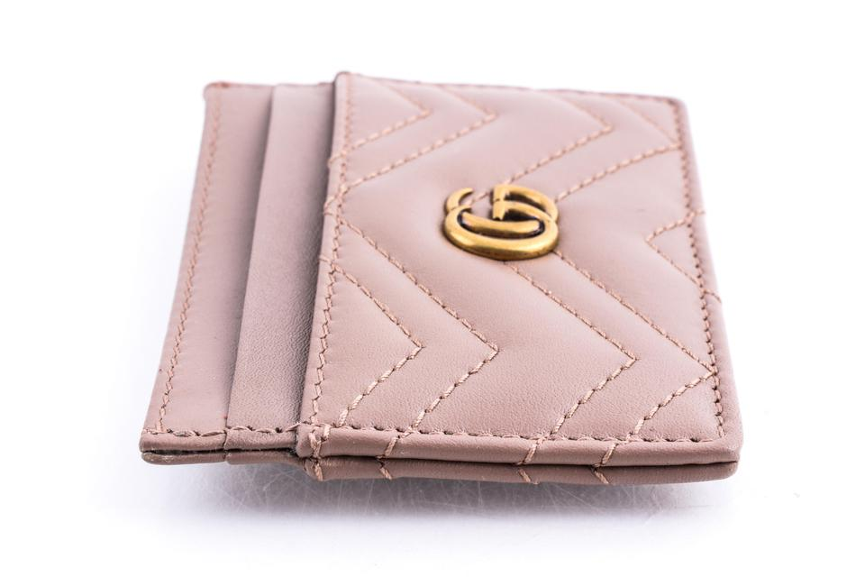 960584dc7b5031 Gucci Neutral Marmont Leather Card Case Wallet - Tradesy