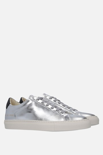 Common Projects Sneakers Golden Goose Ggdb Silver Athletic Image 3