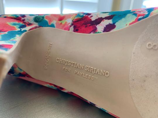 Christian Siriano bright floral Pumps Image 3