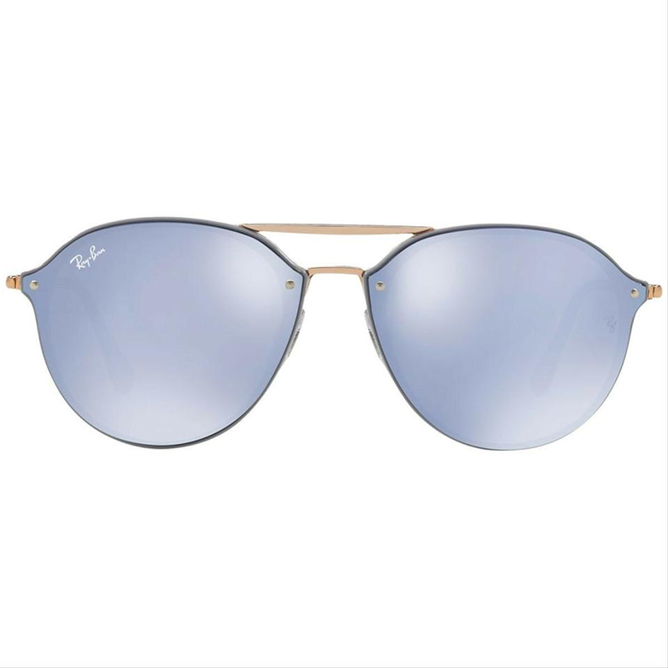 6513c88420 Ray-Ban Blaze Double Bridge Light Grey Bronze Copper Frame   Violet ...