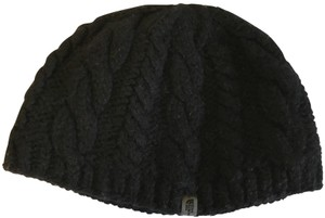 The North Face North Face Black Knitted Beanie with Fleece Interior Headband - Size L