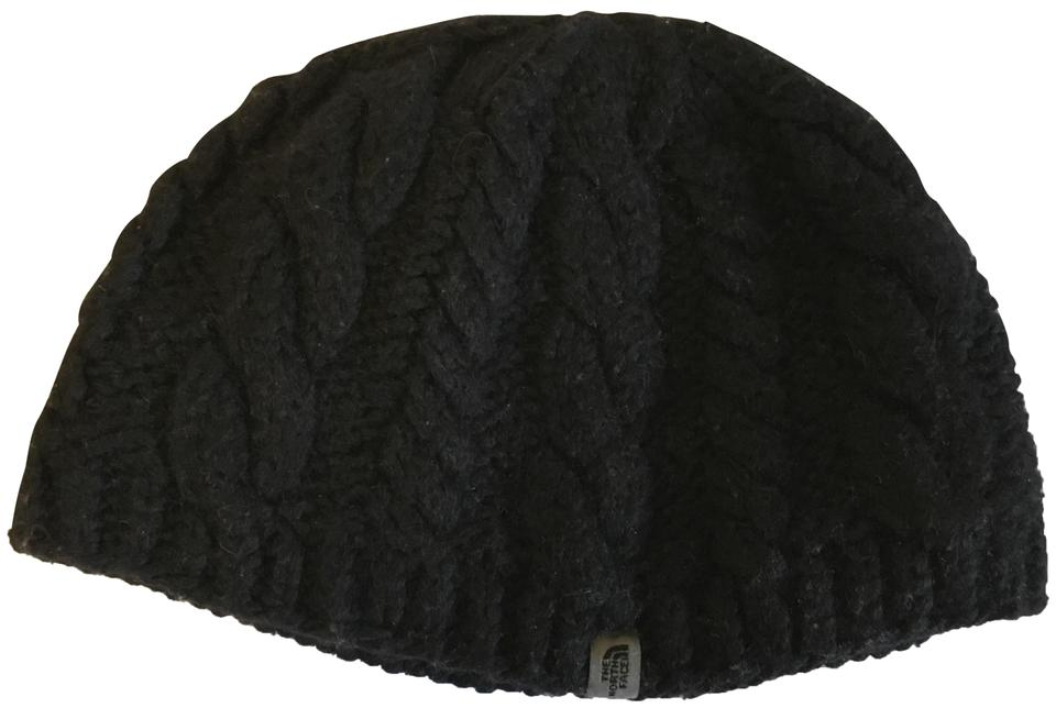 9187c0e88 The North Face Black L Knitted Beanie with Fleece Interior Headband - Size  Hat
