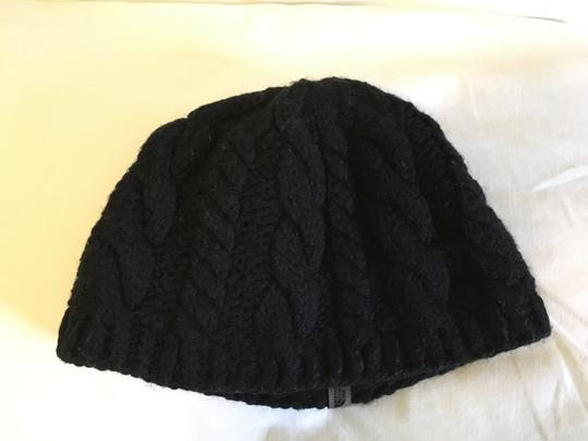 The North Face North Face Black Knitted Beanie with Fleece Interior Headband - Size L Image 1