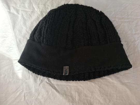 The North Face North Face Black Knitted Beanie with Fleece Interior Headband - Size L Image 2