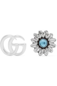 Gucci Marmont silver-tone multi-stone earrings