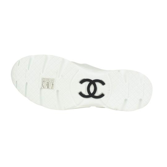 Chanel Calfskin Mary Jane Strap Sneaker White Flats Image 5