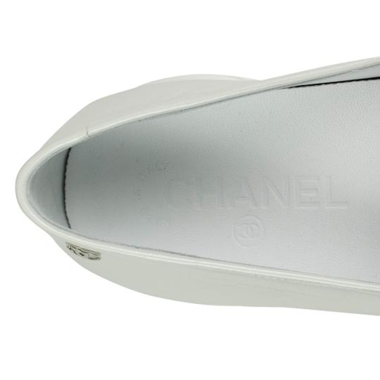 Chanel Calfskin Mary Jane Strap Sneaker White Flats Image 6
