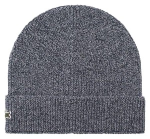 7b0b936aaf7 Lacoste BRAND NEW MEN S LACOSTE (RB3502) TURNED EDGE RIBBED WOOL BLUE BEANIE  H