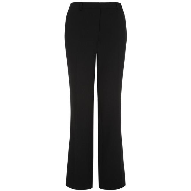 Planet No Pockets No Belt Loops Polyester Sleek Elegant Trouser Pants Black Image 2