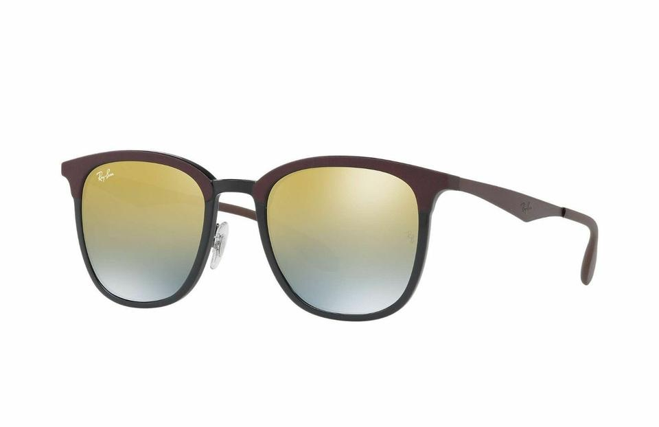 bf06b46bda Ray-Ban Matte Black Brown Frame   Green Gradient Mirrored Lens Rb4278  6285a7 Square Style Unisex Sunglasses