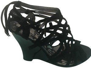 Marciano Black Wedges