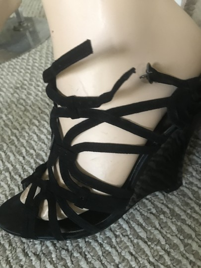 Marciano Black Wedges Image 5