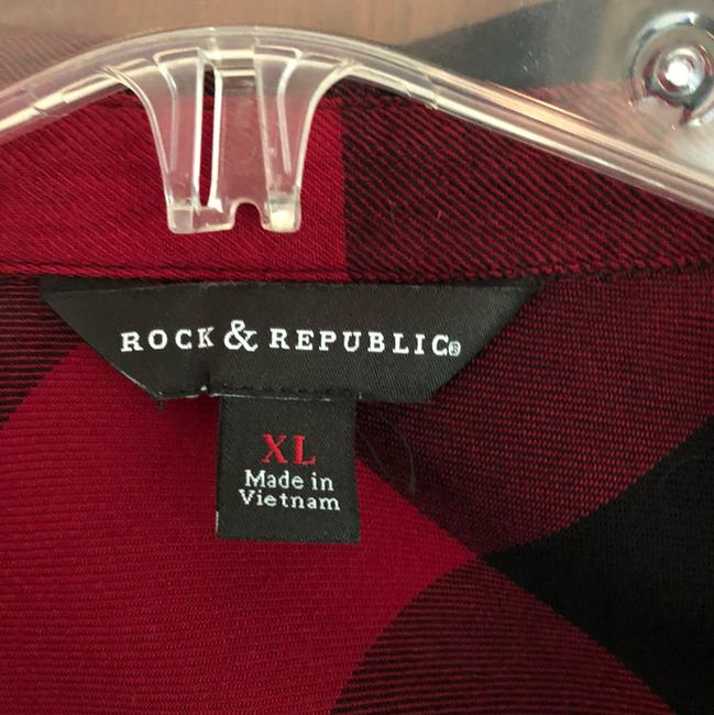 Rock & Republic Button Down Shirt red and black Image 1