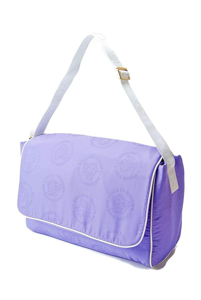 7586b45484d0 Versace Medusa Logo Messenger Purple Nylon Diaper Bag - Tradesy