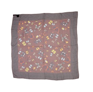 Dolce&Gabbana Sheer Silk Multicolor Butterfly Print Square 90cm Scarf