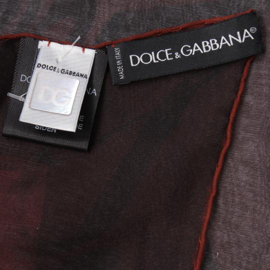 Dolce&Gabbana Sheer Silk Multicolor Butterfly Print Square 90cm Scarf Image 2