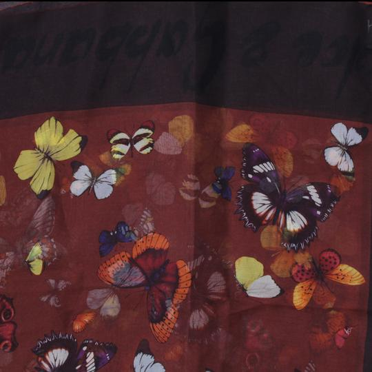 Dolce&Gabbana Sheer Silk Multicolor Butterfly Print Square 90cm Scarf Image 4