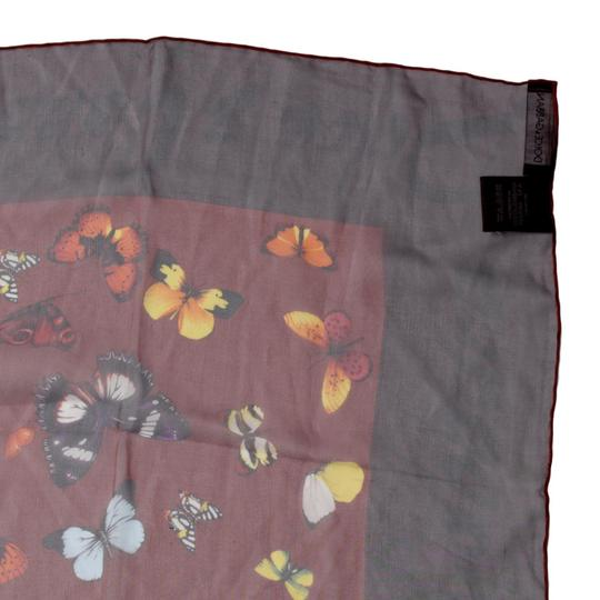 Dolce&Gabbana Sheer Silk Multicolor Butterfly Print Square 90cm Scarf Image 5