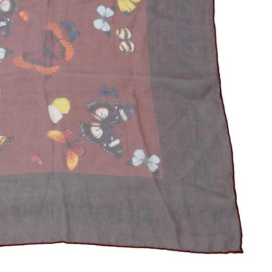Dolce&Gabbana Sheer Silk Multicolor Butterfly Print Square 90cm Scarf Image 6