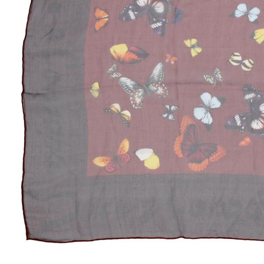 Dolce&Gabbana Sheer Silk Multicolor Butterfly Print Square 90cm Scarf Image 7