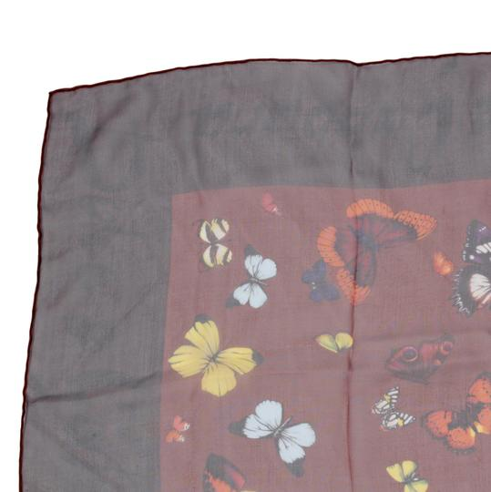 Dolce&Gabbana Sheer Silk Multicolor Butterfly Print Square 90cm Scarf Image 8