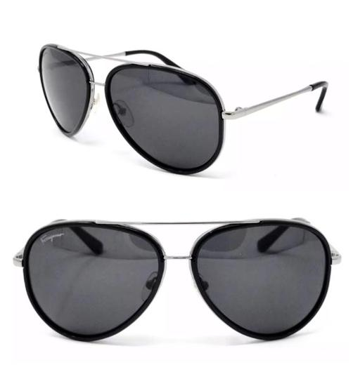 Preload https://img-static.tradesy.com/item/24813341/salvatore-ferragamo-black-gun-metal-aviator-sunglasses-0-0-540-540.jpg