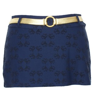 St. John Gold Belt Logo Swimsuit Cover-up Skirt XS