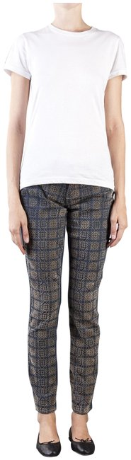 Item - Blue/Beige Emily Coated Harlequin Print Ultra Style No. 1757365-1510 Skinny Jeans Size 27 (4, S)