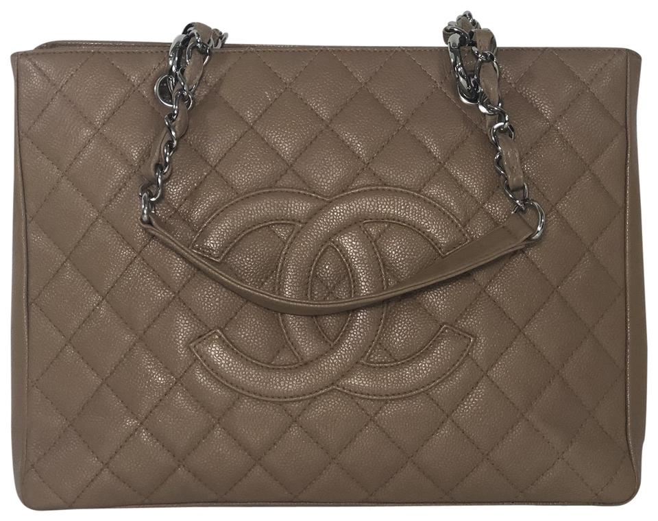 307107c388b8 Chanel Shopping Tote Caviar Grand with Silver Hardware In Beige Leather  Shoulder Bag