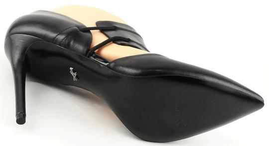 Kenneth Cole Pointed Toe Leather Black Pumps Image 3