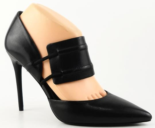 Kenneth Cole Pointed Toe Leather Black Pumps Image 1