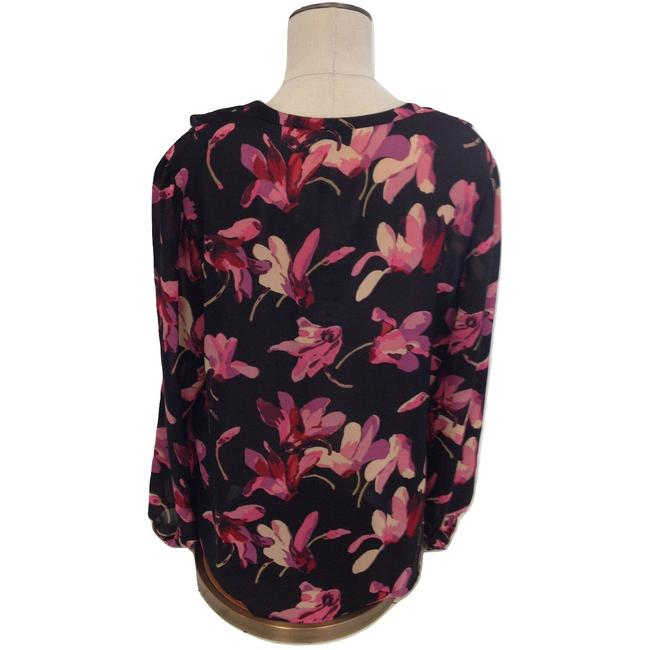 Windsmoor Floral Longsleeve V-neck Polyester Top Multi-Color Image 1