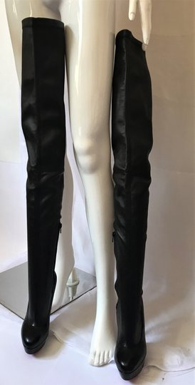 Christian Louboutin Thigh High Over The Knee Black Boots Image 8