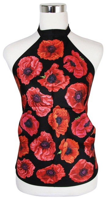 Preload https://img-static.tradesy.com/item/24813562/gucci-blackred-new-poppy-silk-floral-scarf-327378-1074-halter-top-size-os-one-size-0-1-650-650.jpg